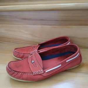 Dubarry red flats size 40